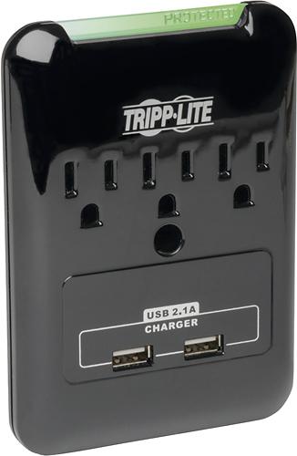 Tripp Lite - Protect It! 3-Outlet Surge Protector - Black