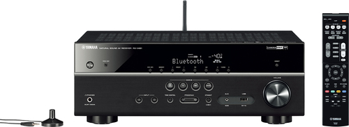 Yamaha - 725W 5.1-Ch. Network-Ready 4K Ultra HD and 3D Pass-Through A/V Home Theater Receiver - Black