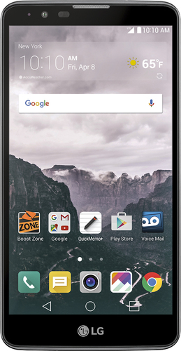 Boost Mobile - LG Stylo 2 4G with 16GB Memory Prepaid Cell Phone - Titan Silver