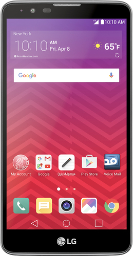 Virgin Mobile - LG G Stylo 2 4G with 16GB Memory No-Contract Cell Phone - Titan Silver