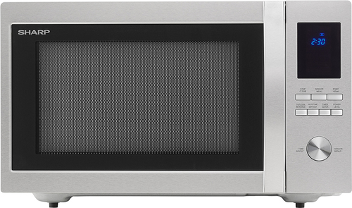 Sharp - 1.6 Cu. Ft. Family-Size Microwave - Stainless steel (Silver)