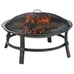 Blue Rhino - Endless Summer Outdoor Wood Burning Fireplace - Black 5028216