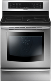 "Samsung - 30"" Induction Self-Cleaning Freestanding Electric Convection Induction Range - Stainless-Steel"