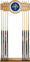 Trademark Games - Florida Panthers 8-Cue Wall Rack - Brown/Blue