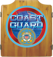 Trademark Games - U.S. Coast Guard Solid Wood Dart Cabinet Set - Brown