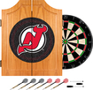 Trademark Games - New Jersey Devils Pine Dart Cabinet Set - Brown