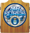 Trademark Games - U.S. Air Force Dart Cabinet Set - Brown