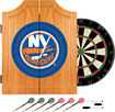 Trademark Games - New York Islanders Pine Dart Cabinet Set - Brown