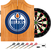 Trademark Games - Edmonton Oilers Pine Dart Cabinet Set - Brown
