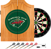 Trademark Games - Minnesota Wild Pine Dart Cabinet Set - Brown