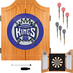 Trademark Games - Sacramento Kings Solid Pine Dart Cabinet Set - Brown