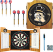 Trademark Games - Wake Forest Solid Pine Dart Cabinet Set - Brown