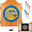 Trademark Games - Denver Nuggets Solid Pine Dart Cabinet Set - Brown