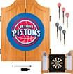 Trademark - Detroit Pistons Solid Pine Dart Cabinet Set