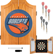 Trademark Games - Charlotte Bobcats Solid Pine Dart Cabinet Set - Brown