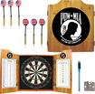 Trademark Games - POW Dart Cabinet Set - Brown