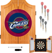 Trademark Games - Cleveland Cavaliers Solid Pine Dart Cabinet Set - Brown