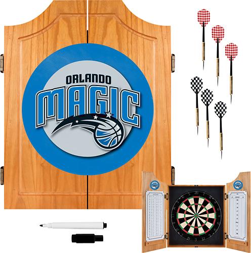 Trademark Games - Orlando Magic Solid Pine Dart Cabinet Set - Brown