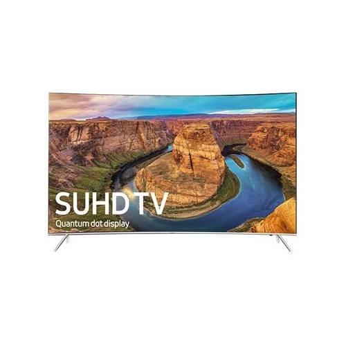 Samsung - 49 Class - (48.5 Diag.) - LED - Curved - 2160p - Smart - 4K Ultra HD TV - with High Dynamic Range - Black