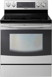 "Samsung - 30"" Self-Cleaning Freestanding Double Oven Electric Convection Induction Range - Stainless-Steel"