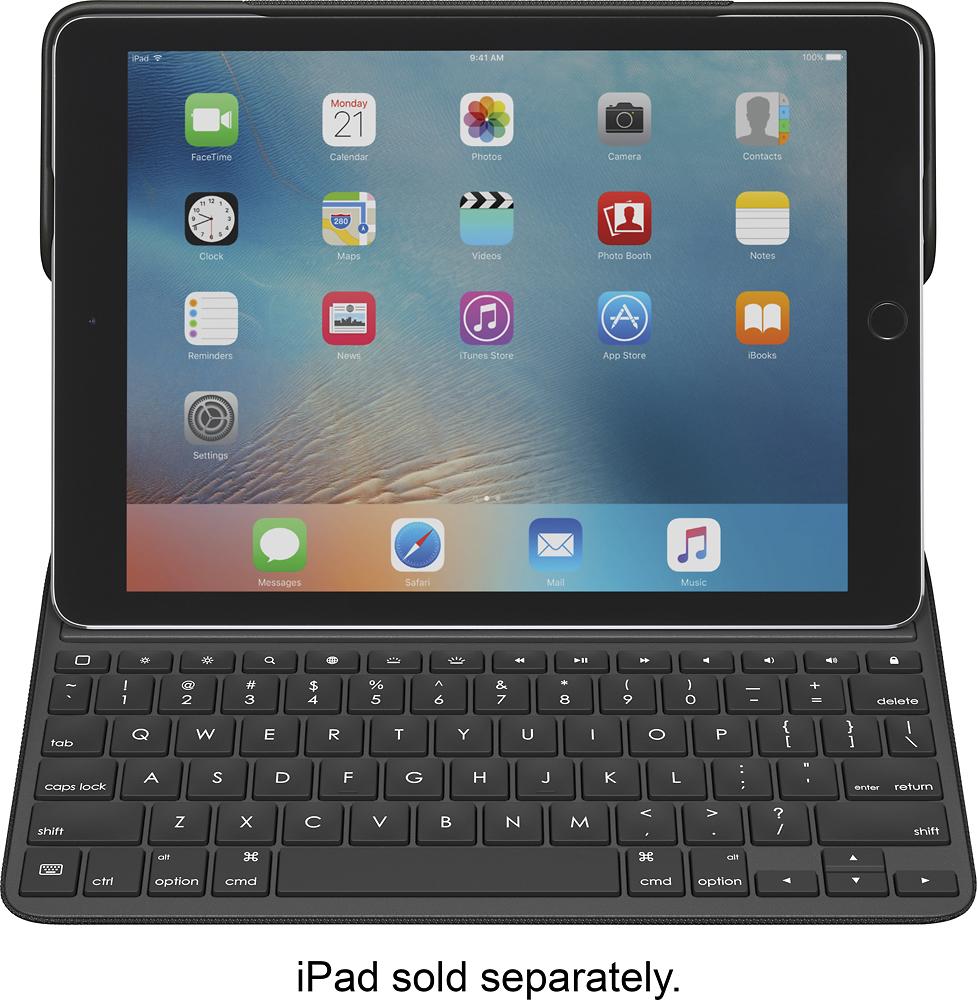"""Logitech - Create Keyboard Case For Apple Ipad Pro 9.7"""" - Bl"""