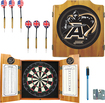 Trademark Games - Army Solid Pine Dart Cabinet Set - Brown