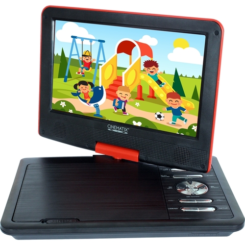 Cinematix - 9 Portable DVD Player - Red