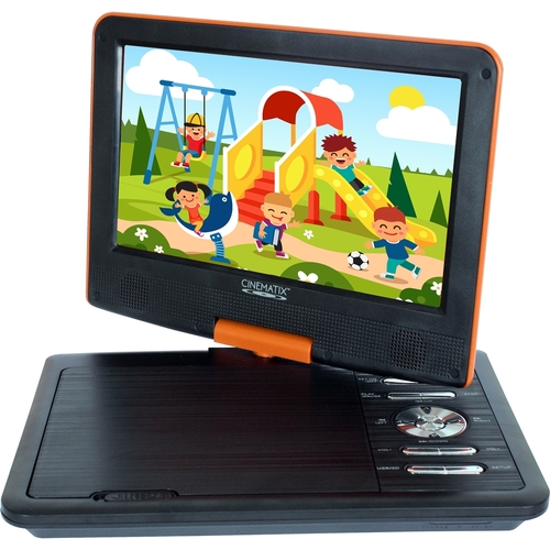 Cinematix - 9 Portable DVD Player - Orange