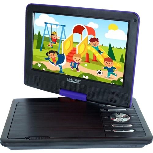 Cinematix - 9 Portable DVD Player - Blue