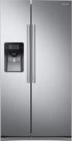 Samsung - 24.5 Cu. Ft. Side-by-Side Refrigerator with Thru-the-Door Ice and Water - Stainless-Steel