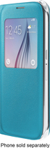Samsung - S-View Soft-Shell Case for Samsung Galaxy S6 Cell Phones - Blue