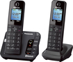 Panasonic - KX-TGH262B Link2Cell DECT 6.0 Expandable Cordless Phone System with Digital Answering System - Black
