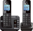 Panasonic - Link2Cell DECT 6.0 Expandable Cordless Phone System with Digital Answering System - Black