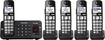 Panasonic - KX-TGE245B DECT 6.0 Expandable Cordless Phone System with Digital Answering System - Black
