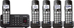 Panasonic - DECT 6.0 Expandable Cordless Phone System with Digital Answering System - Black