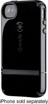 Speck - Candyshell Flip Case for Apple® iPhone® 4 and 4S - Black/Charcoal Gray