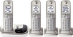 Panasonic - KX-TGD224N DECT 6.0 Expandable Cordless Phone System with Digital Answering System - Champagne Gold