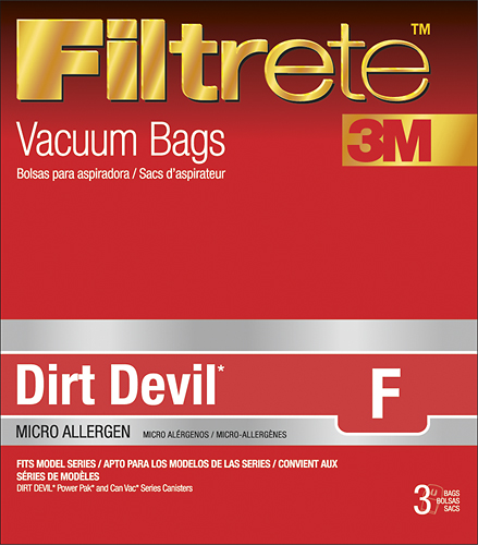 3M - Filtrete F Vacuum Bag for Dirt Devil Power Pak and Can Vac Canister Vacuums