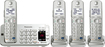 Panasonic - KX-TGE274S Link2Cell DECT 6.0 Expandable Cordless Phone System with Digital Answering System - Silver