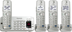 Panasonic - Link2Cell DECT 6.0 Expandable Cordless Phone System with Digital Answering System - Silver