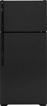 GE - 16.5 Cu. Ft. Frost-Free Top-Freezer Refrigerator - Black
