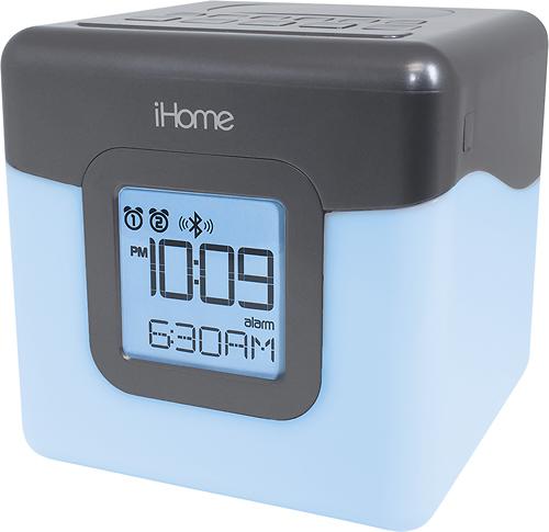 iHome - Bluetooth FM Dual-Alarm Clock Radio - Gunmetal