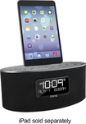 iHome - Stereo FM Dual-Alarm Clock Radio - Gunmetal
