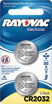 Rayovac - 2032 Batteries (2-Pack) - Silver