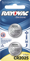 Rayovac - 2025 Batteries (2-Pack) - Silver