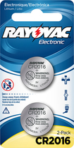 Rayovac - 2016 Batteries (2-Pack) - Silver