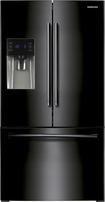 Samsung - 25.6 Cu. Ft. French Door Refrigerator with Thru-the-Door Ice and Water - Black