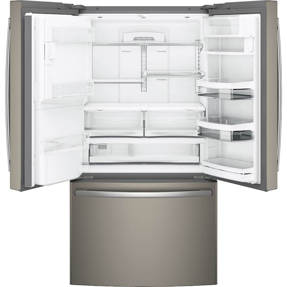 GE   Profile Series 22.2 Cu. Ft. French Door Counter Depth Refrigerator    Slate At Pacific Sales