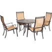 Click here for Hanover - Manor Dining Set (5-piece) - Cast/sling... prices