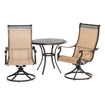 Click here for Hanover - Manor 3-piece Bistro Dining Set - Cast/s... prices